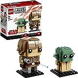 LEGO Brickheadz - Luke Skywalker y Yoda,  Juguete de Figuras Coleccionables para Construir de los Personajes de Star Wars (41627)