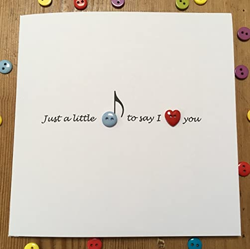 valentine s day card just a little note cute button card