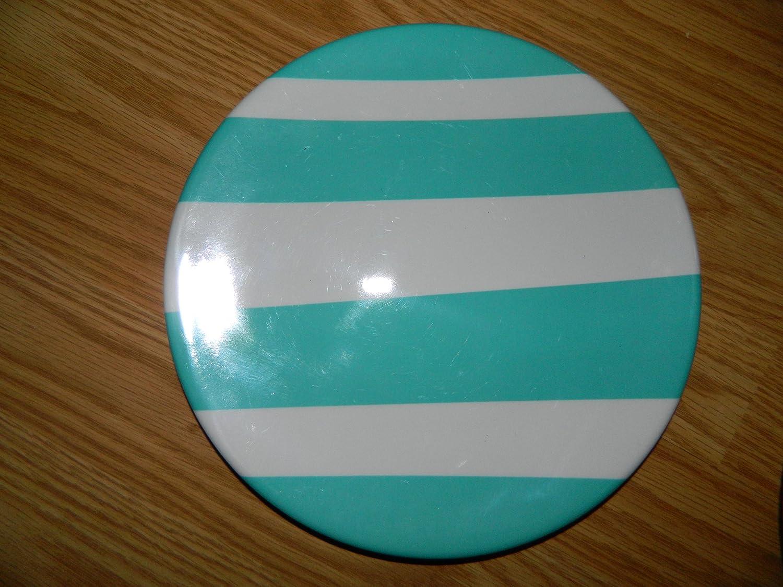 "Target 2011 Spring Line Blue & white striped Melamine Salad Plate - 8.5"" diameter"