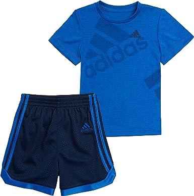 Amazon.com: adidas Boys' Active Tee & Sport Shorts Clothing Set: Clothing