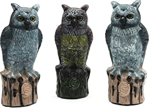 Juvale Owl Statues for Home and Garden Decoration (Plastic, 13 Inches, 3-Pack)
