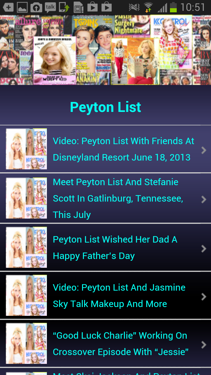 My Fan App : Peyton List: Amazon.es: Appstore para Android