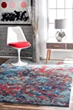 nuLOOM RZBD45A Multi Abstract Sherley Area Rug, 8' x 10', Multicolor