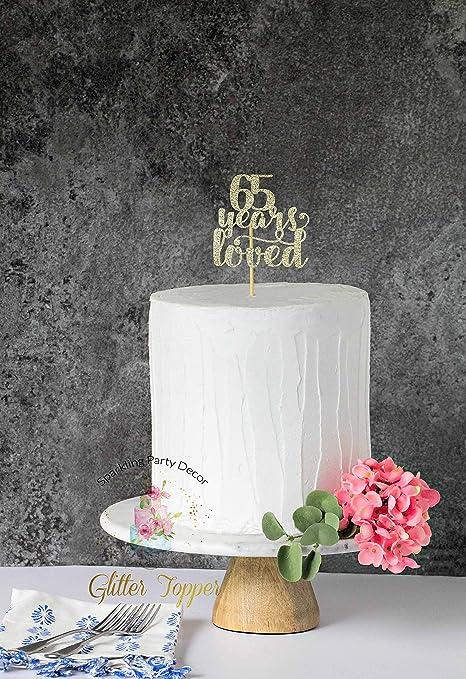 Decoración para tarta de 65 años, decoración para tarta de ...