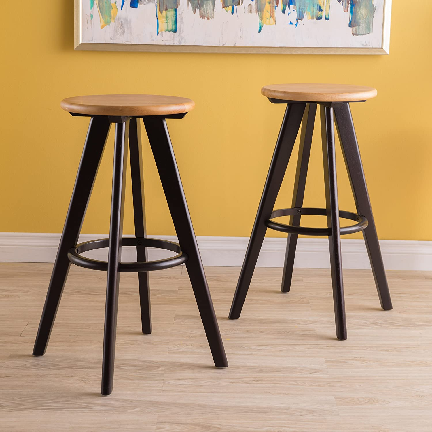 Fabulous Christopher Knight Home Judd Natural Finish Wood Bar Stools Set Of 2 Pdpeps Interior Chair Design Pdpepsorg