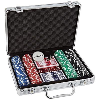 Ak Sport 0603014 Juego de póquer maletín de Aluminio de 200 Piezas: Juguetes y juegos