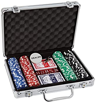 Ak Sport 0603014 Juego de póquer maletín de Aluminio de 200 ...