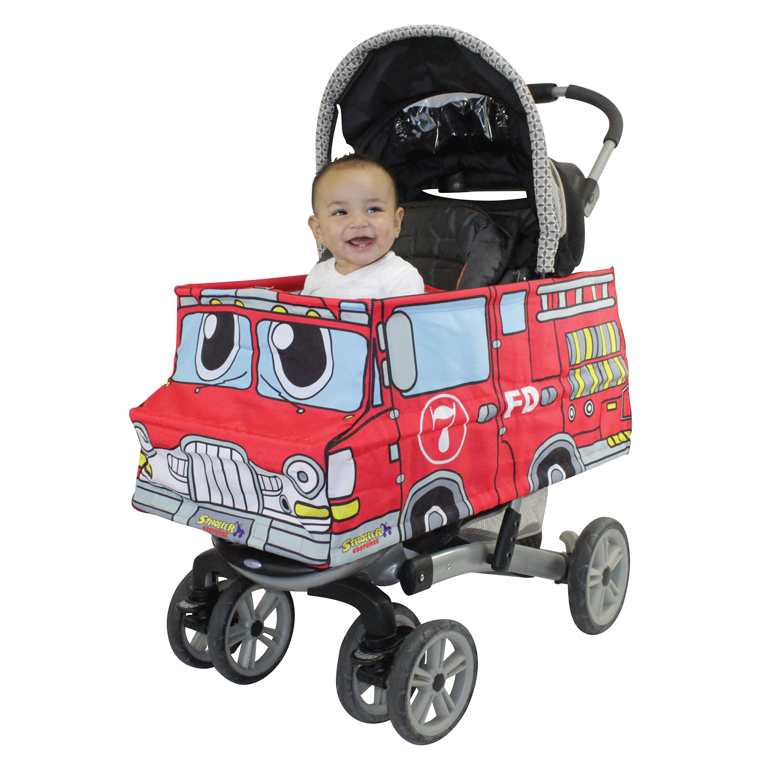 Stroller Costumes Fire Truck Turns Stroller Into A Baby, Toddler Ride On Car Toy