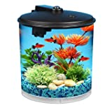 KollerCraft Aquarius AquaView 360 Aquarium Kit with LED Light, 2-Gallon
