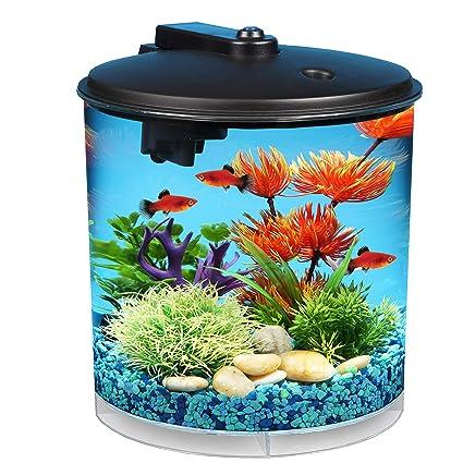 0dab37731f0 Amazon.com   Koller Products AquaView 2-Gallon 360 Fish Tank with Power  Filter and LED Lighting - AQ360-24C   Topfin Fish Aquariums   Pet Supplies