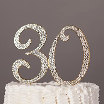 Amazoncom Ella Celebration 30 Cake Topper for 30th Birthday or