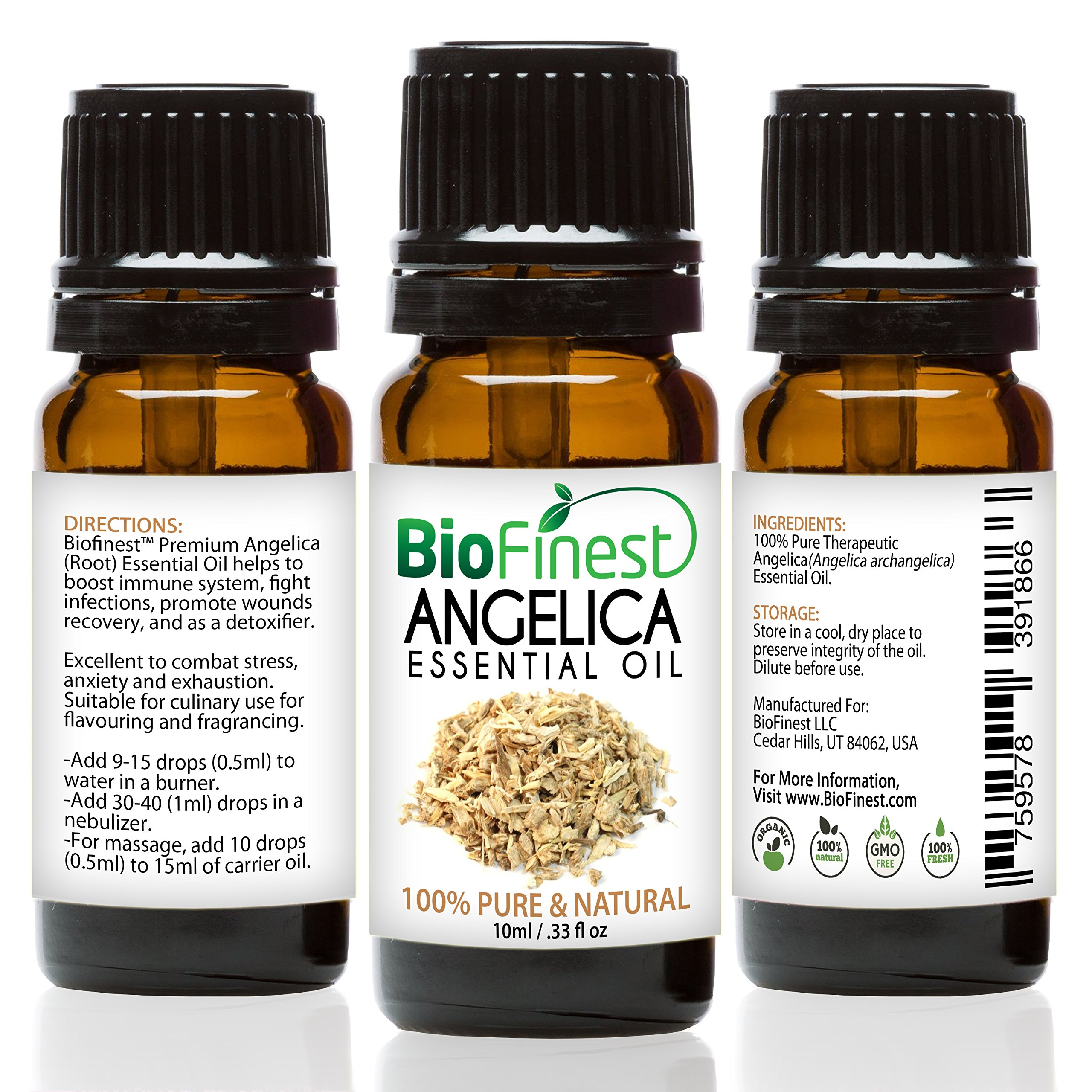 BioFinest Angelica Oil - 100% Pure Angelica Essential Oil - Boost Immune System and Strength - Premium Quality - Therapeutic Grade - Best For Aromatherapy - FREE E-Book (10ml)