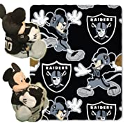 The Northwest Company Officially Licensed NFL Oakland Raiders Co Disney's Mickey Hugger and Fleece Throw Blanket Set