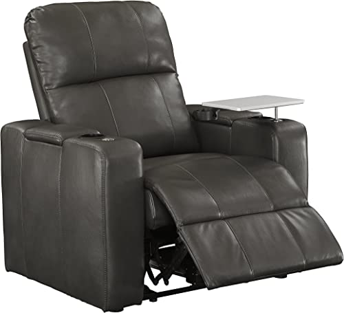 Pulaski Power Home Theatre Recliner 38.0 L X 39.5 W X 43.0 H Charcoal Grey