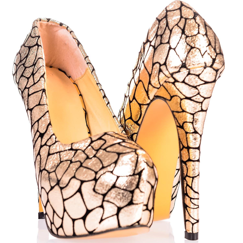 Ça Va Bien Fashion - Zapatos de vestir para mujer 37 EU|dorado