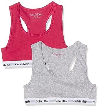 d330b42b44844 Calvin Klein Girls  Modern Cotton 2 Pack Bralette Lingerie Set ...