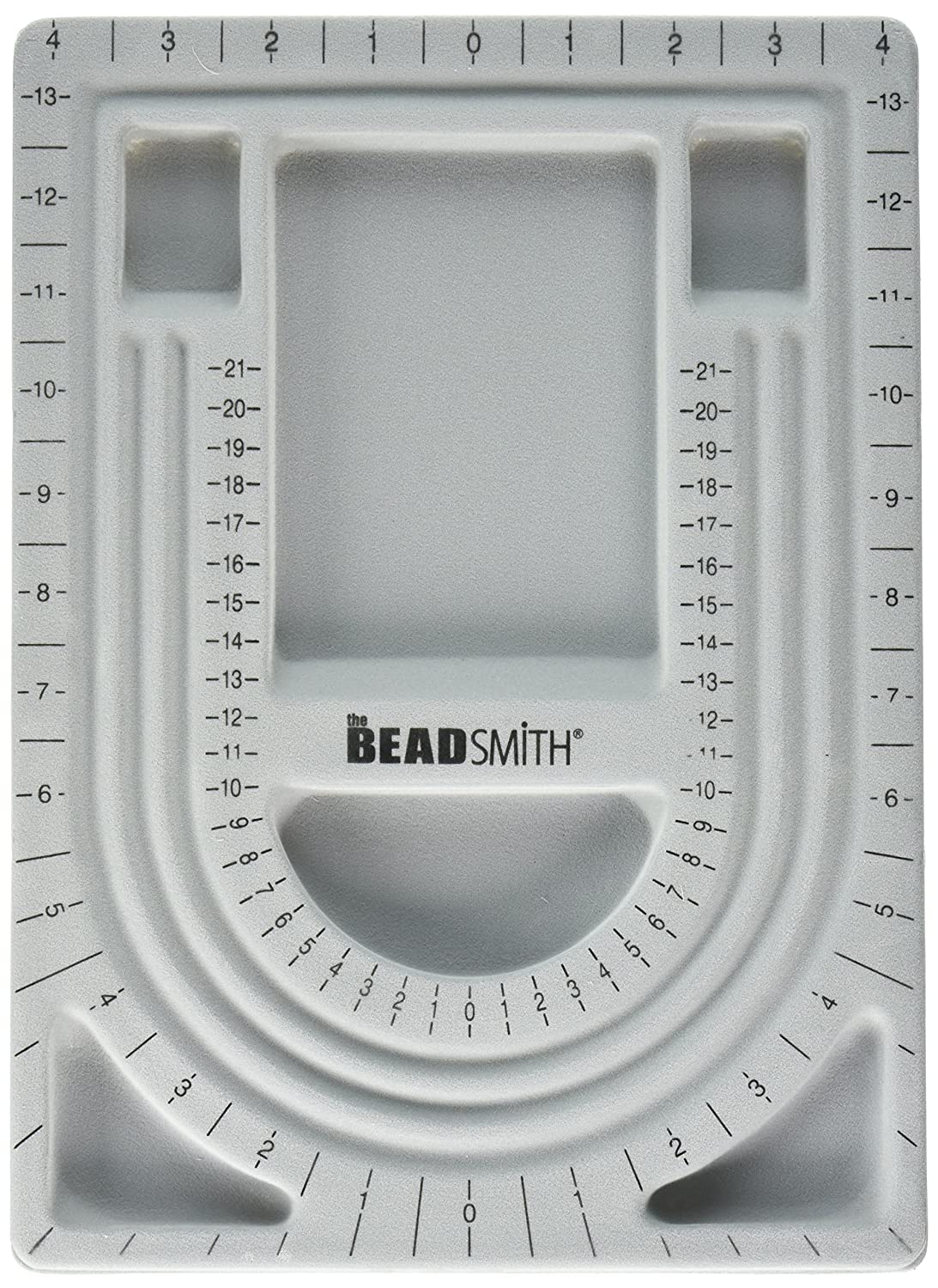 Bead Design in Beading Board and Gray Flock with Lid, 9 by 13-Inch Beadaholique XTL-9915