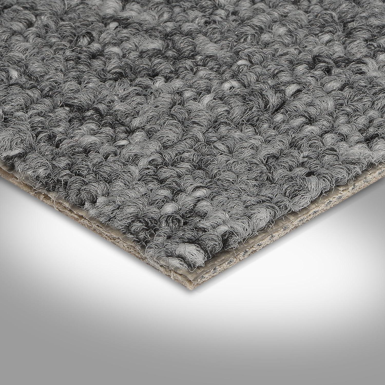Teppichboden Auslegware Meterware Schlinge grau 400 und 500 cm breit verschiedene L/ängen