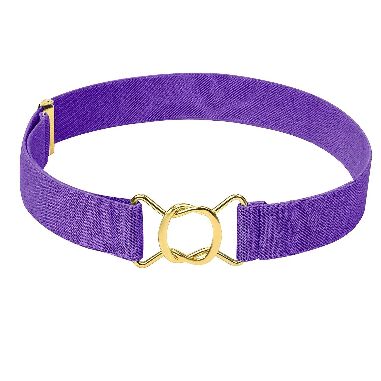 Hold/'Em Kids Toddler Clasp Gold Buckle Belt-Teal