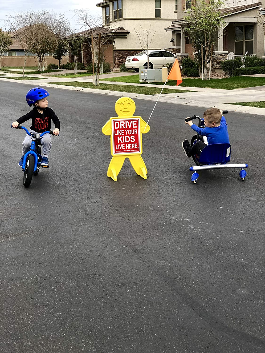 Drive Like Your Kids Live Here Safety Kid Slow Down Sign//Children At Play Reminder