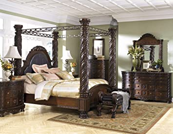 "Amazon.com: Ashley Furniture ""North Shore 8 Piece Canopy Bedroom"
