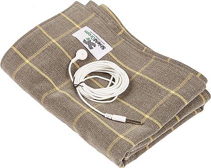 """Earthing Grounding Sheet EMF Conductive Mats Cotton Fabric Silver Fiber 59/""""x78/"""""""