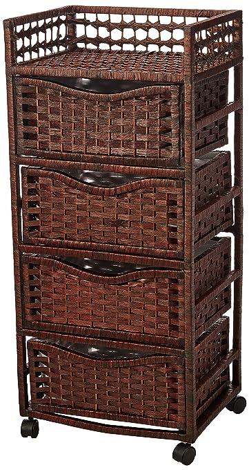 Oriental Muebles 96,5 cm Ratán estilo fibra natural 4 ...