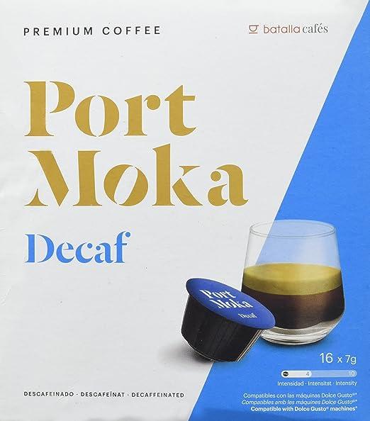 Port Moka Cápsulas de Café Decaf Compatibles Sistema Dolce Gusto - 4 Paquete de 16 Unidades