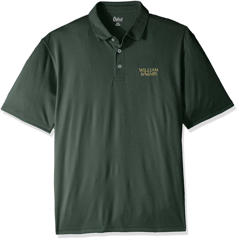 Oxford NCAA William Mary Tribe Men's Houston Performance Polo Shirt Large Hunter