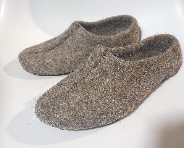 d1fd4517453 Amazon.com  Organic Felted Wool Slippers