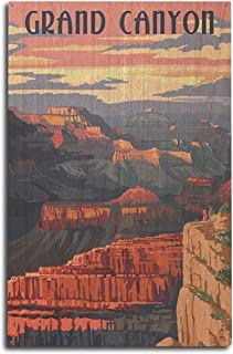 product image for Lantern Press Grand Canyon National Park, Arizona - Sunset View (10x15 Wood Wall Sign, Wall Decor Ready to Hang)