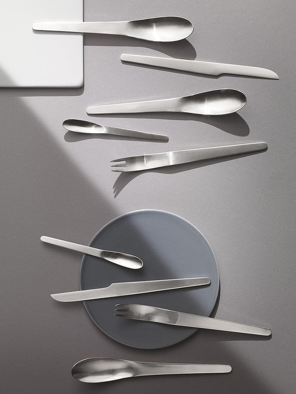 Cuberter/ía Metalizado Georg Jensen Arne Jacobsen Acero Inoxidable 8.1 x 19 x 26.2 cm