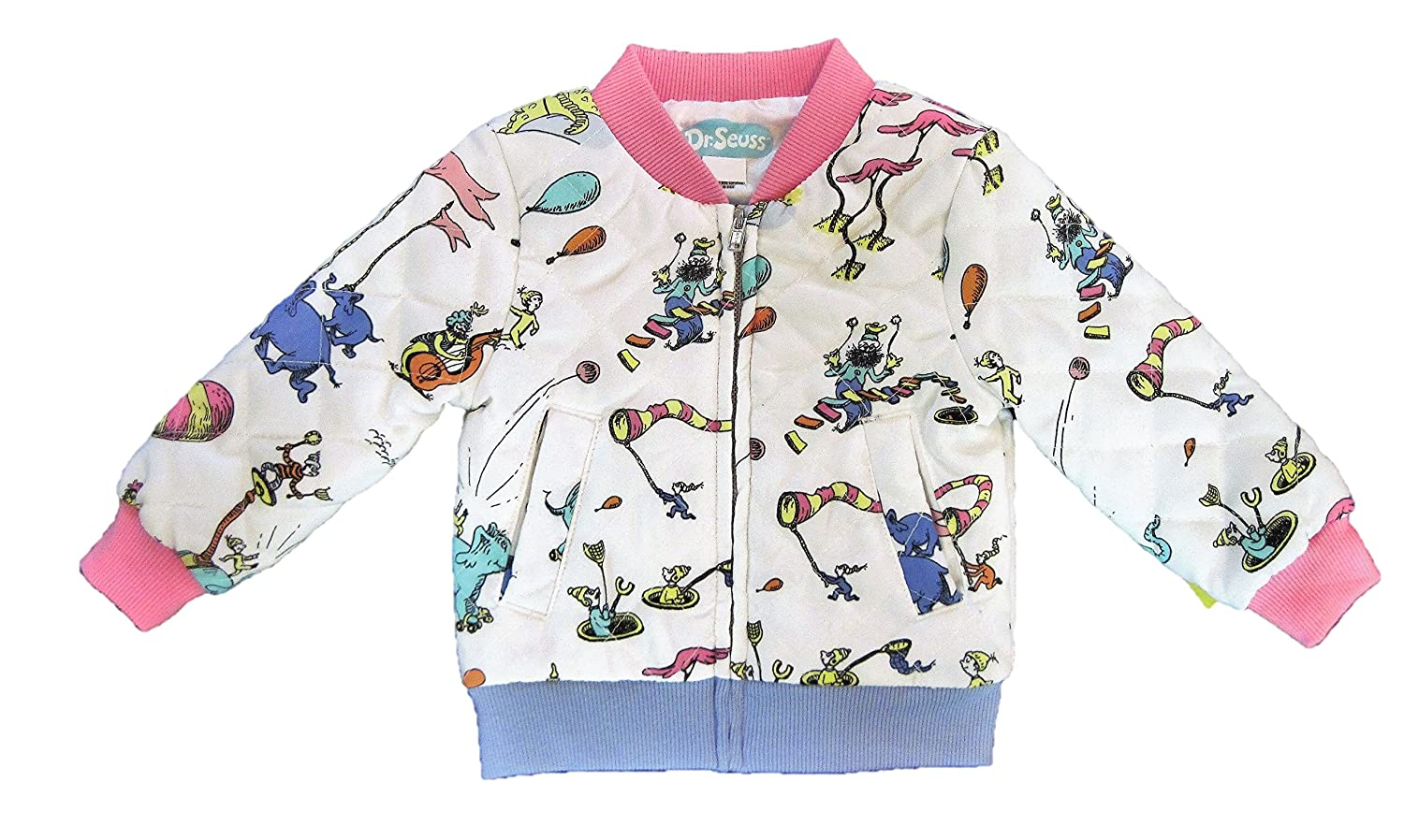 a122de45605f Amazon.com  Dr Seuss Baby Toddler Girl s Quilted Jacket (12M)  Clothing