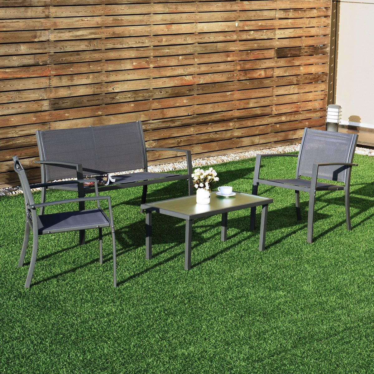 Galvanized Patio Furniture.Tangkula 6pc Patio Furniture Set Outdoor Garden Backyard Poolside