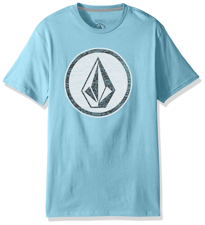 (ボルコム) VOLCOM < メンズ > 半袖 プリント Tシャツ (モダンフィット) [ A5011801/Classic Stone S/S Tee ] おしゃれ ロゴ B0752L2NNG  アクア Large