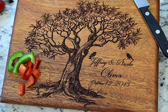 amazon com love birds tree cutting board cutting boards