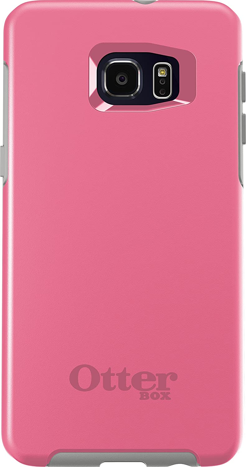 OtterBox SYMMETRY SERIES Case for Samsung Galaxy S6 EDGE+ PLUS - Retail Packaging - PINK PEBBLE (HIBISCUS PINK/SLEET GREY)