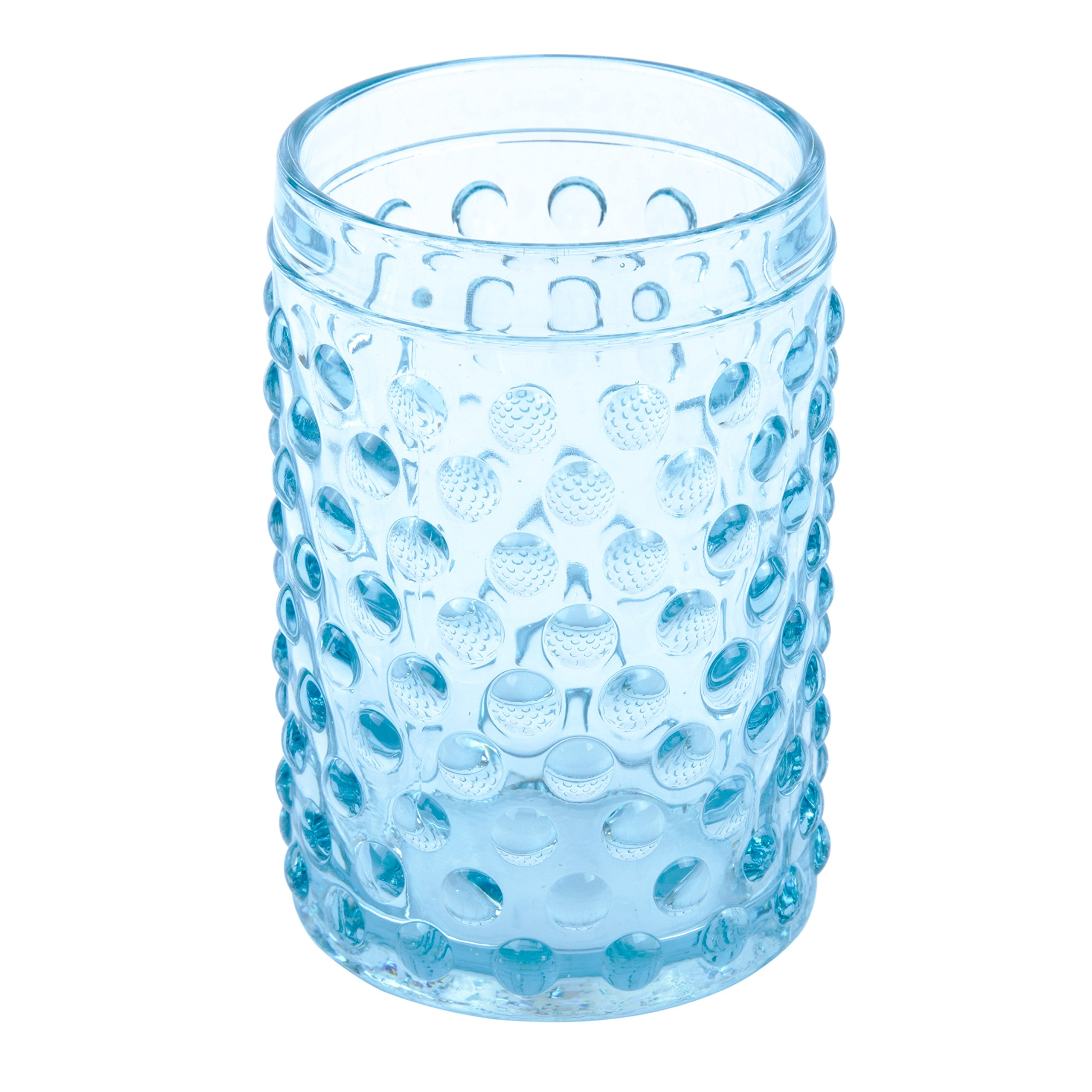 Creative Home Transparent Blue Dot Glass Tumbler, Toothbrush Holder by Creative Home