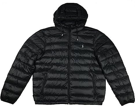 Polo Ralph Lauren Mens Hooded Down Jacket, Packable: Amazon.es ...