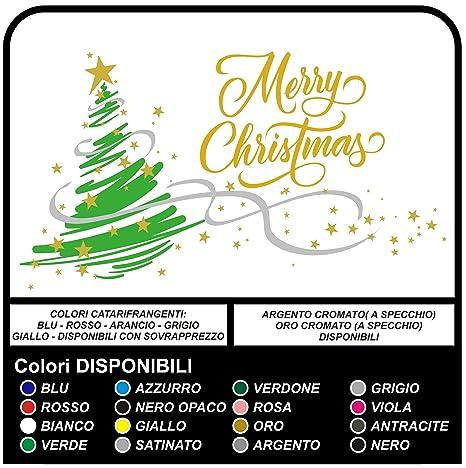 Adesivi Buon Natale.Adesivi Albero Di Natale Buon Natale Merry Christmas