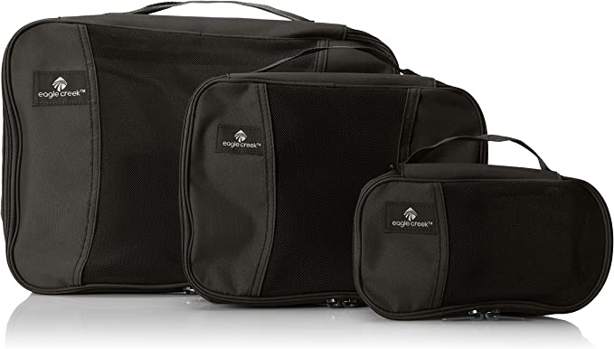 Eagle Creek Pack-It Cube Set Packing Organizer, Black, Set of 3 best packing cubes