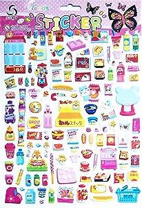PARITA 1 Sheet A4 Bubble Sticker Food and Drink Cartoon Sticky Label School Supplies Nursery Classroom Reward Crafts Design Project for Teachers and Kids (09)