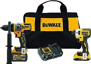 DEWALT FLEXVOLT ADVANTAGE 20V MAX Combo Kit with Hammer Drill & Impact Driver, 6.0-Ah, 2-Tool (DCK2100D1T1)