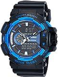 Skmei Analog-Digital Black Dial Men's Watch - 1117-Blue