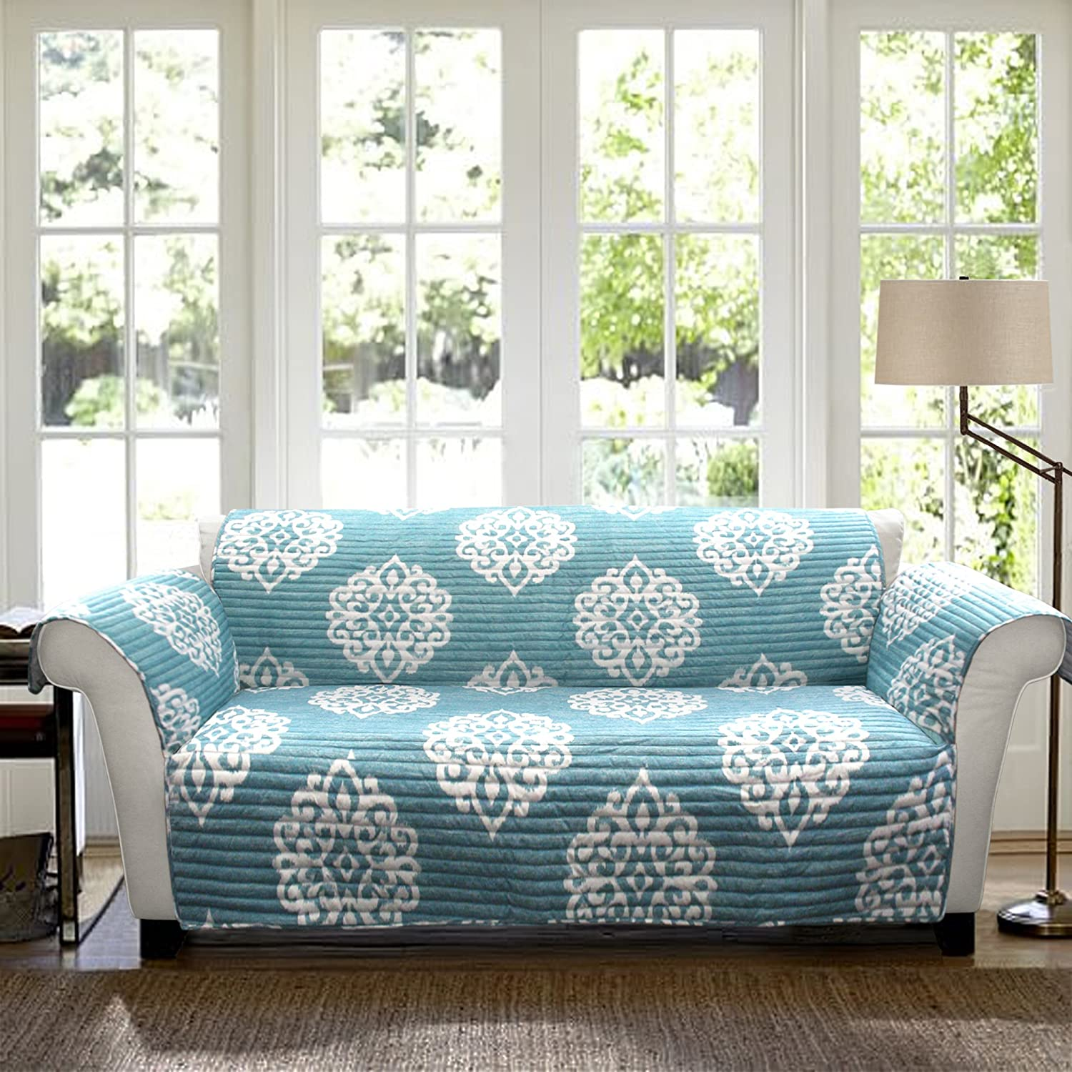 Amazon.com: Lush Decor Sohpie Slipcover/Furniture Protector for Sofa ...