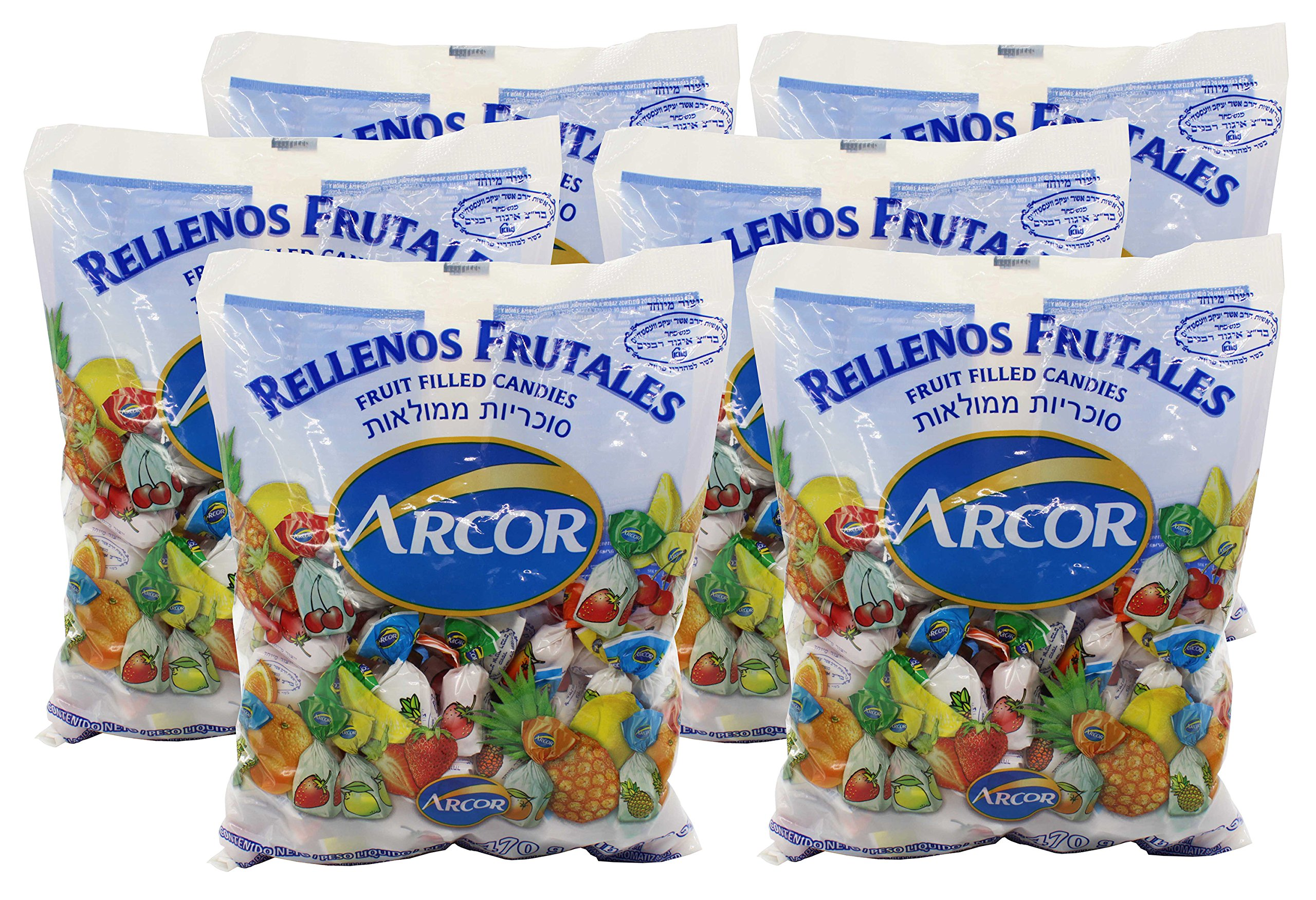 Arcor Kosher Assorted Fruit Flavored Hard Candy with Chewy Centers 6 Lb by Arcor - Kosher