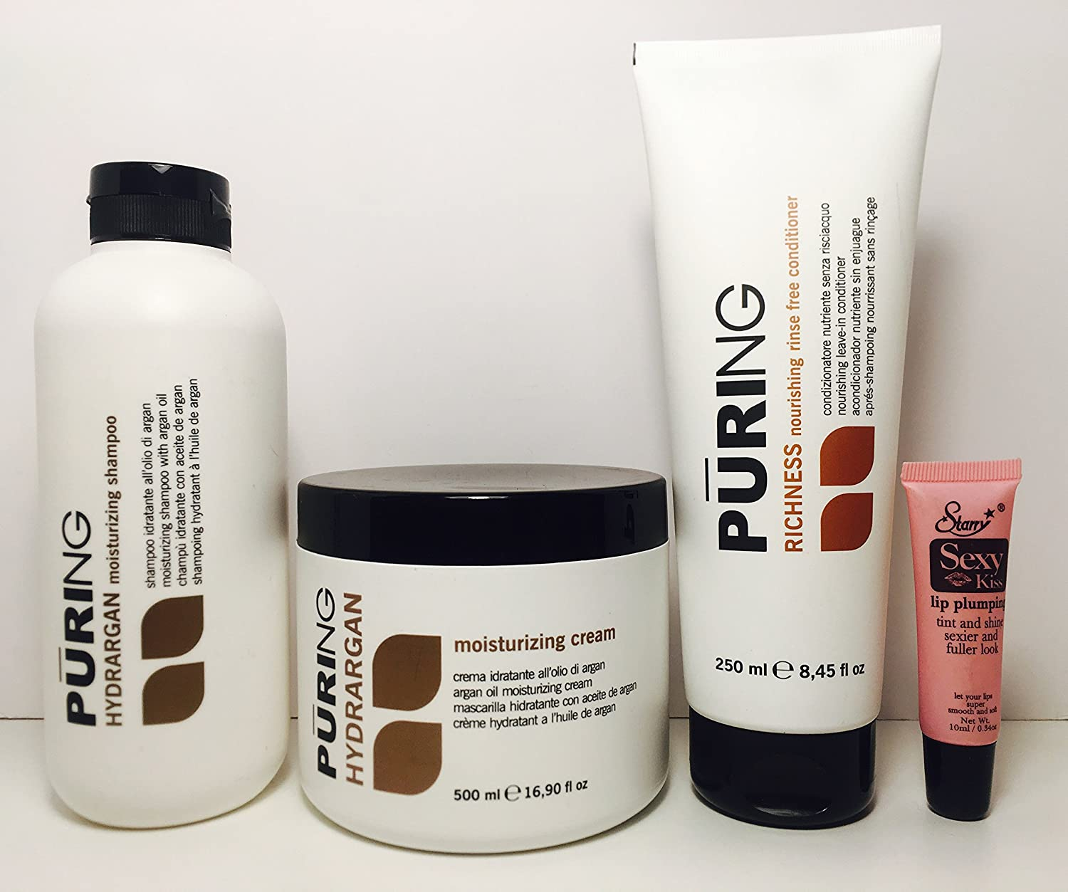 Amazon.com : Maxima Puring Hydrargan Kit: Moisturizing Shampoo 11.83 Oz, Mask 16.9 Oz And Richness Nourishing Rinse Free Conditioner 8.45free Staryy Sexy ...
