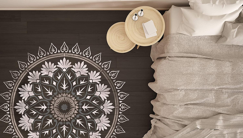 Varanasi Mandala Wall Furniture Floor Stencil for Painting 100cm