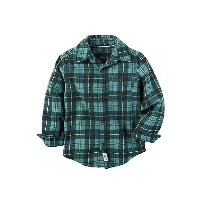 Carter's Boys' 2T-8 Long Sleeve Plaid Shirt