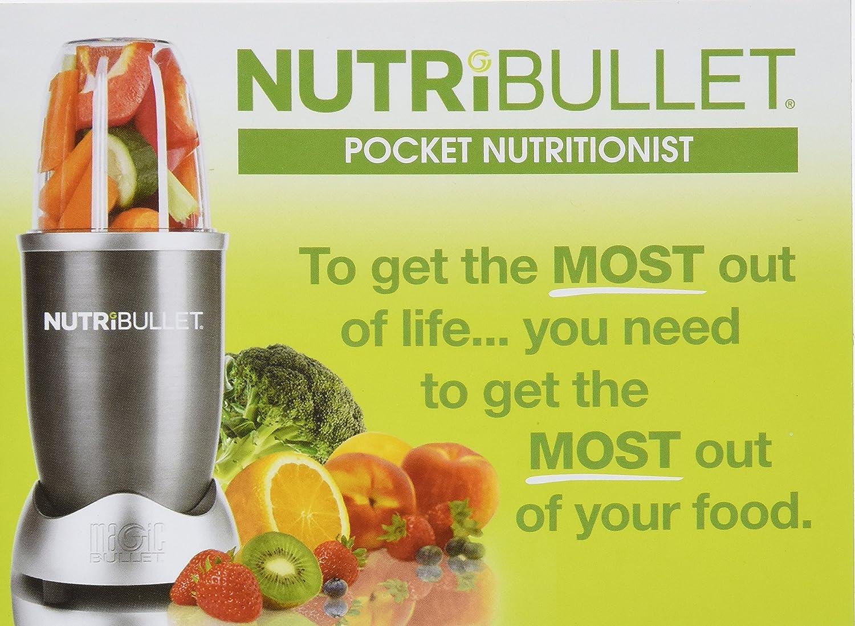amazon com nutribullet user guide recipe book pocket rh amazon com NutriBullet vs Magic Nutri Bullet as Seen On TV
